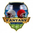 An illustration of an American fantasy football he...