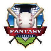 Fantasy Baseball Emblem Illustration