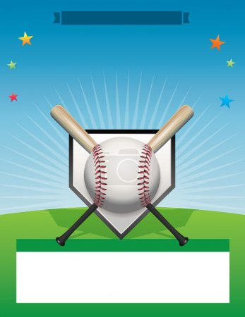 Vector Baseball Flyer Background Illustration