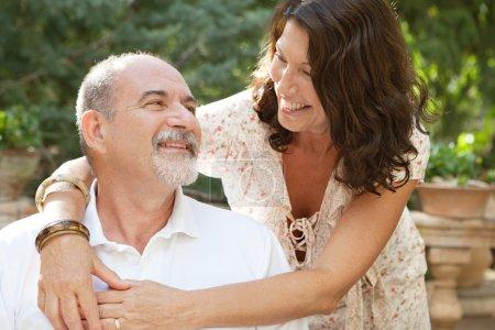 Happy tourists couple