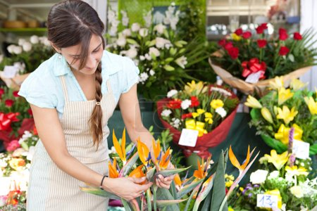 florist woman working in her store