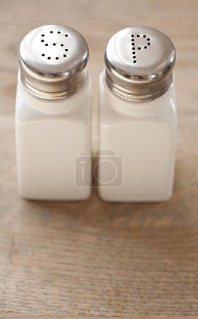 pair of salt and pepper dispensers