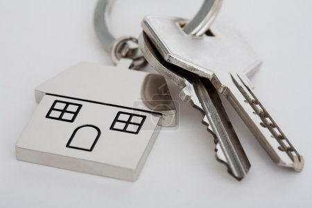 New home mortgage keys and keyring
