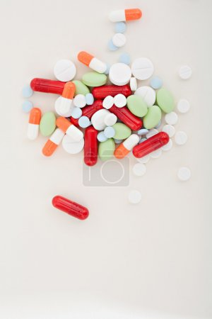 Colorful medicine pills and capsules