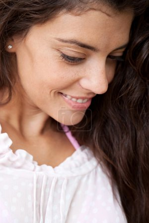 portrait of an attractive hispanic woman smiling
