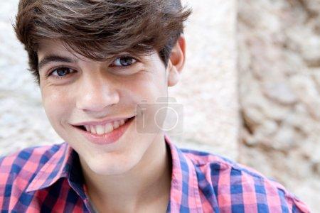 Portraitof an attractive hispanic teenager boy