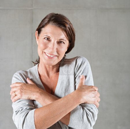 portrait of an attractive mature woman