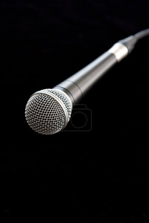 black and silver music microphone