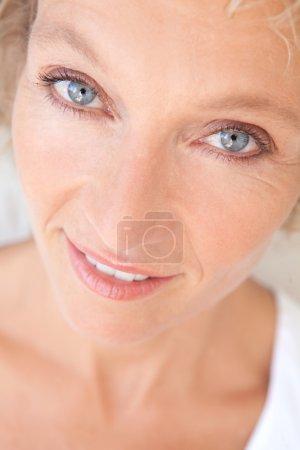 portrait of a joyful healthy woman