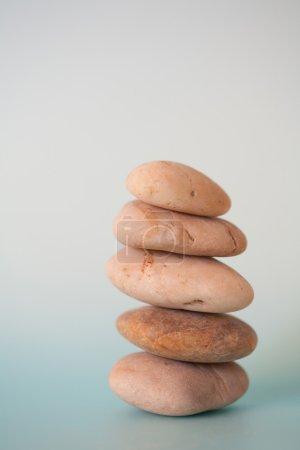 pile of natural golden stones balancing