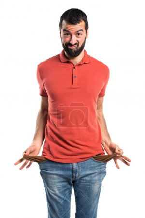 Man over isolated white background