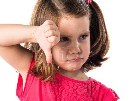 Kid doing bad signal
