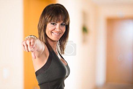Pretty brumette adult woman