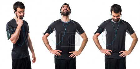 Man over isolated background