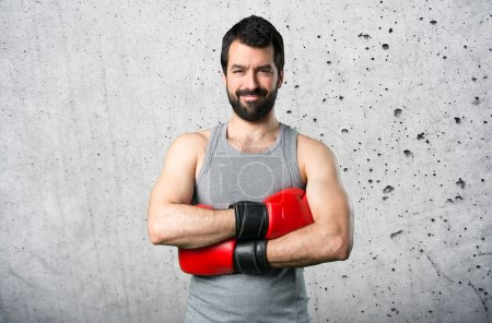 Photo for Sportman with boxing gloves - Royalty Free Image