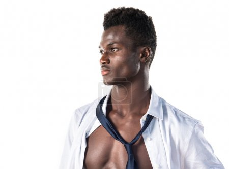 Handsome black man with athletic body