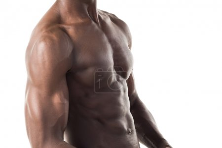 Photo for Handsome black man with athletic body posing - Royalty Free Image