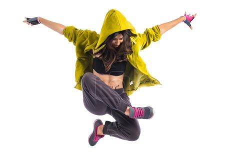 Photo pour Adolescente fille danse hip hop - image libre de droit