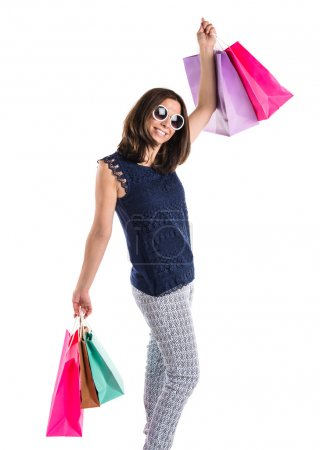 Photo for Woman with many shopping bags - Royalty Free Image