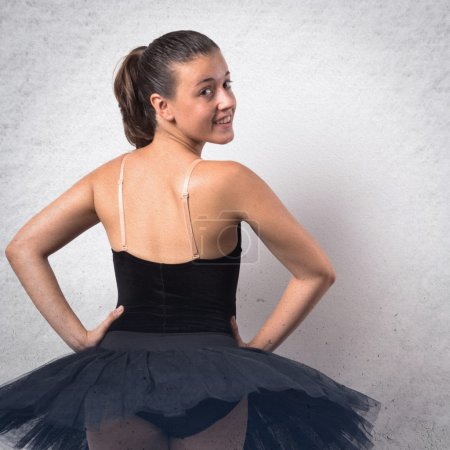 Beautiful girl ballerina dancer in studio