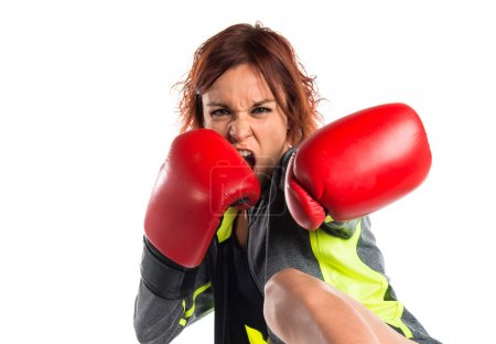 Photo for Woman with boxing gloves - Royalty Free Image