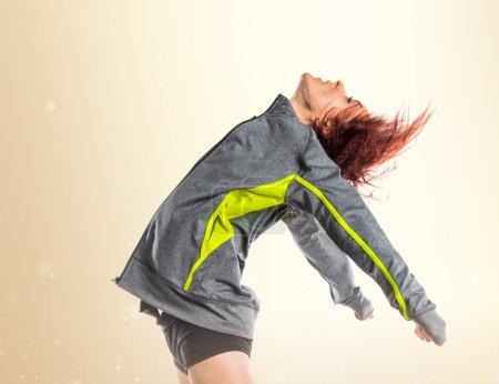 Street dance girl dancer