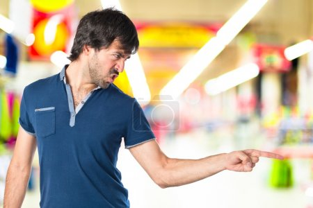 Photo for Man shouting over isolated white background - Royalty Free Image
