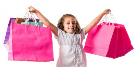 Photo for Girl with many shopping bags - Royalty Free Image