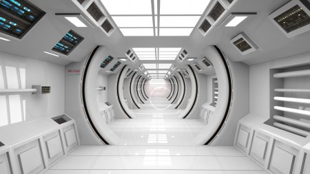 Photo for Futuristic corridor,space ship interior - Royalty Free Image