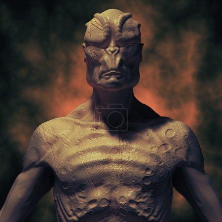 Alien monster portrait
