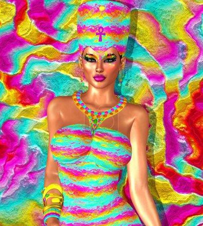 Paradise Calling. Egyptian queen fantasy art. Cleopatra, Nefertiti and more.