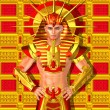 Egyptian Pharaoh Ramses. A modern digital art vers...