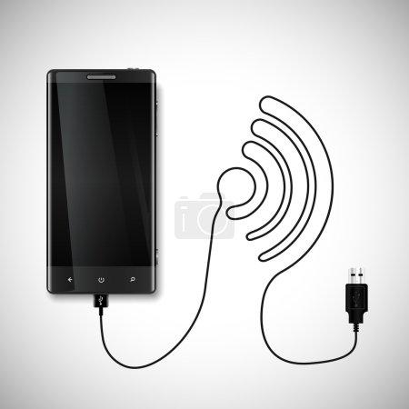 Charging cord forming Wi-Fi symbol