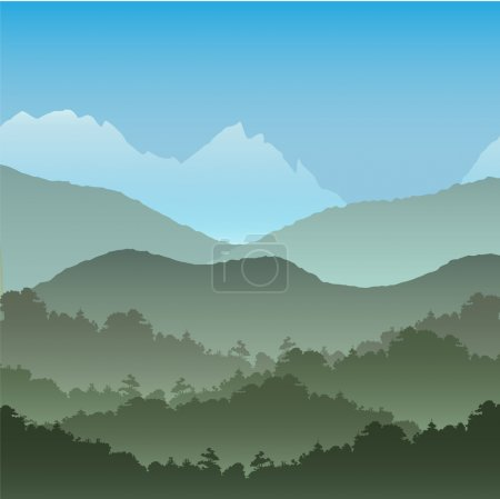 Mountainous landscape background