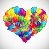Heart shaped balloons illustration