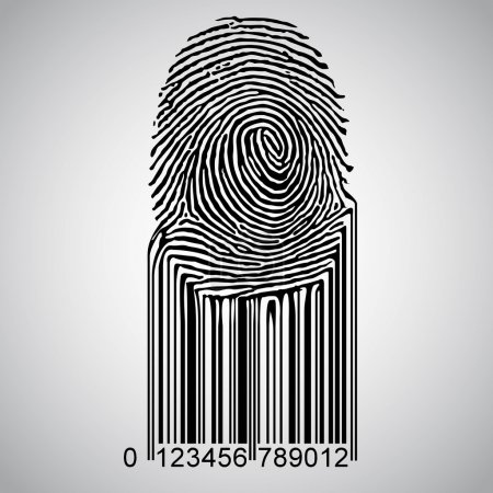 Fingerprint becoming barcode