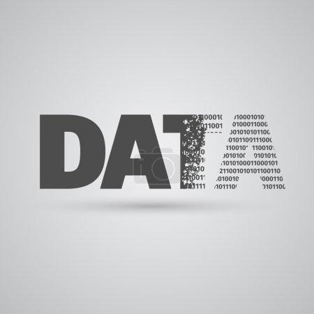 Illustration pour Signe de données sur fond gris, vecteur - image libre de droit