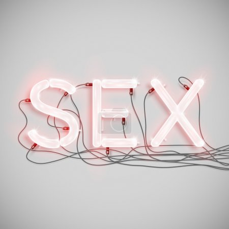 """Sex"" made by neon type"
