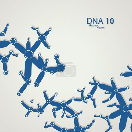 Illustration for Futuristic dna eps 10, vector elegant  illustration - Royalty Free Image