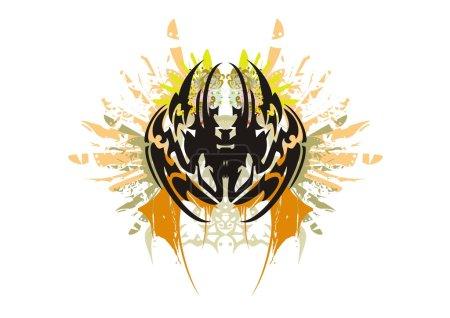Grunge tribal spider