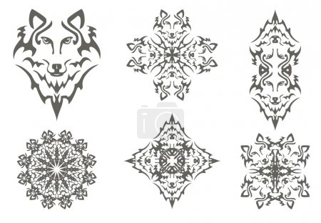 Tribal wolf symbols
