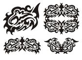 Tribal dragon fish and fish elements