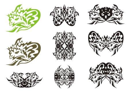 Tribal symbols of small dragon