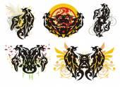 Ornate wings splashes
