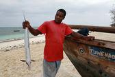Fekete Halász holding Kingfish, Zanzibár