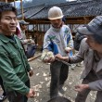 Langde Village, Guizhou, China - April 16, 2010: P...