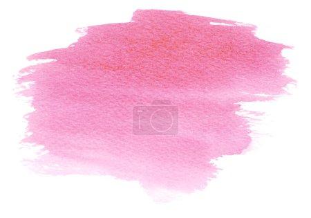 Photo pour Rose tache Aquarelle avec de l'eau couleur tache et pinceau tracés de peinture - image libre de droit