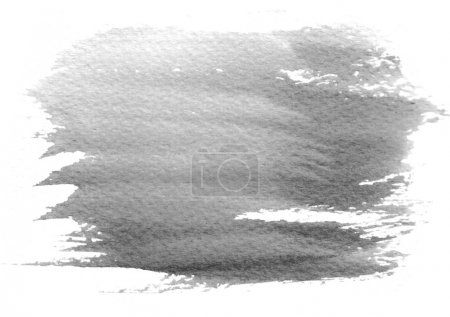 Photo for Gray watercolor stain with watercolor paint blotch and brush stroke - Royalty Free Image