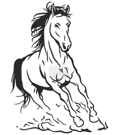 Vector Art Running Horse