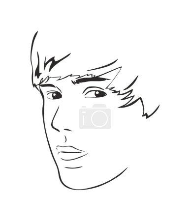 Justin Bieber vector decal